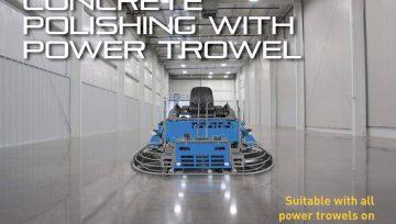 HRC: Σύστημα για το γυάλισμα τσιμέντου με power trowel / ελικόπτερο